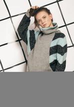 Knit jumper - 80s vintage turtleneck sweater - $40.36