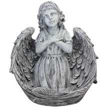 Northlight 16IN Angel Child Wrapped in Wings Religious Outdoor Garden St... - $77.95