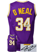 Shaquille O'Neal signed Los Angeles Custom Stitched Purple Pro Basketbal... - $182.95