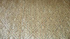 Beige Fleur De Leis Print Chenille Upholstery Fabric 1  Yard  R722 - $29.95