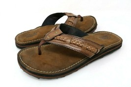 Clarks Collection Womens 6 M Thong Sandals Brown Leather Slip On Braided EU 36 - $27.99