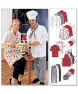 McCall's 2233 Misses' Men's Professional Chef Uniform Pattern Sz 42-44 - $9.95