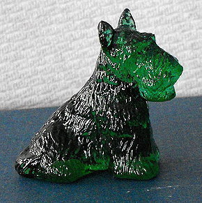 Primary image for Boyd Glass Dark Green Scotty Dog