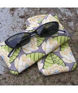 Handcrafted Sunglass / Eyeglass Case - Amy Butler Lotus Pond - $7.50