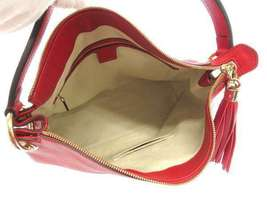 GUCCI Shoulder Bag Leather Red 2Way Soho Interlocking G 536194 Italy Authentic image 7