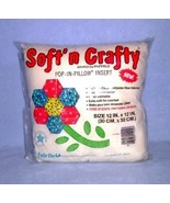 Fairfield Soft 'n Crafty Pop In Pillow Insert Form 12 x 12 Muslin Cover - $5.99