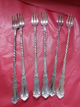 Rogers Alhambra Twisted Long Handle Pickle Forks - $60.00