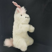 Soft Plush Unicorn Hand Puppet with Pink Mane Pink Horn Full Body Blue E... - $18.80