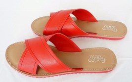 Franco Sarto L-Quentin Women  Shoes Footwear Flat Slides Sandals Flops Red 11 - $37.34