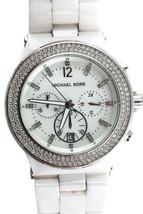 Michael Kors Women's Stainless Steel Crystal MK5188 Ceramic Watch White - $98.00