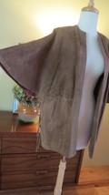 Vintage Suede Cape Coat. Mod. Lace up Sides. Western.  Large - $81.18