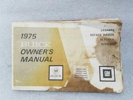 Buick Lesabre Estate Wagon Electra Riviera 1975 Owners Manual 14758 - $17.77