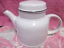 "Royal Doulton Ting Brown White Teapot  5 1/2"" Made England Lambethware V... - $47.29"