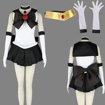 Sailor Moon Pluto/Setsuna Meioh Halloween black Cosplay Costume suit - $87.78