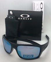 Polarized Oakley Sunglasses Turbine OO9263-14 Black w/ Prizm Deep Water Mirror - $209.95