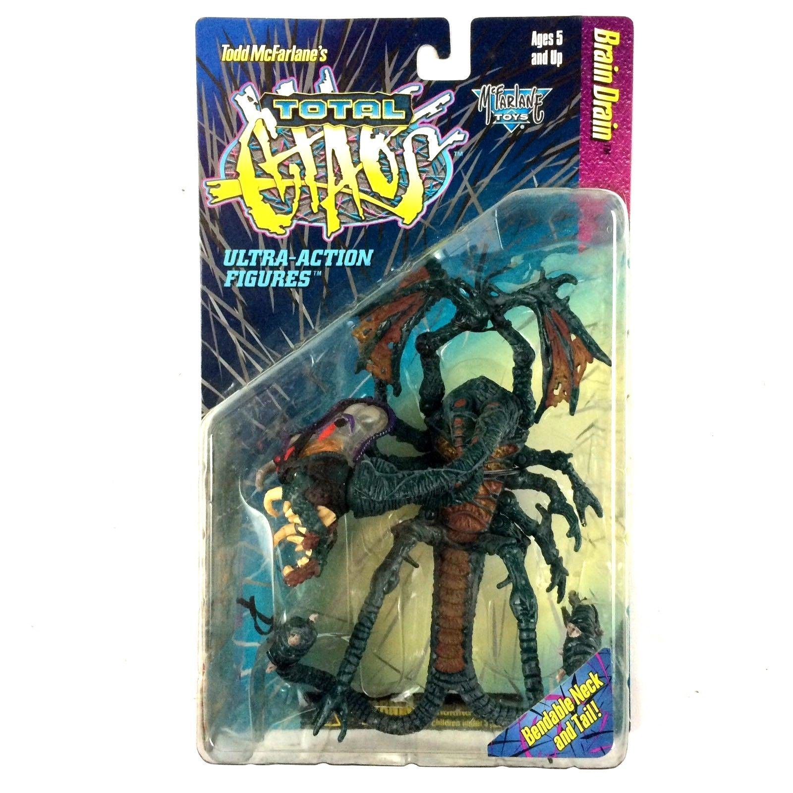 McFarlane Toys Total Chaos Brain Drain Action Figure 1996 Sealed Horror