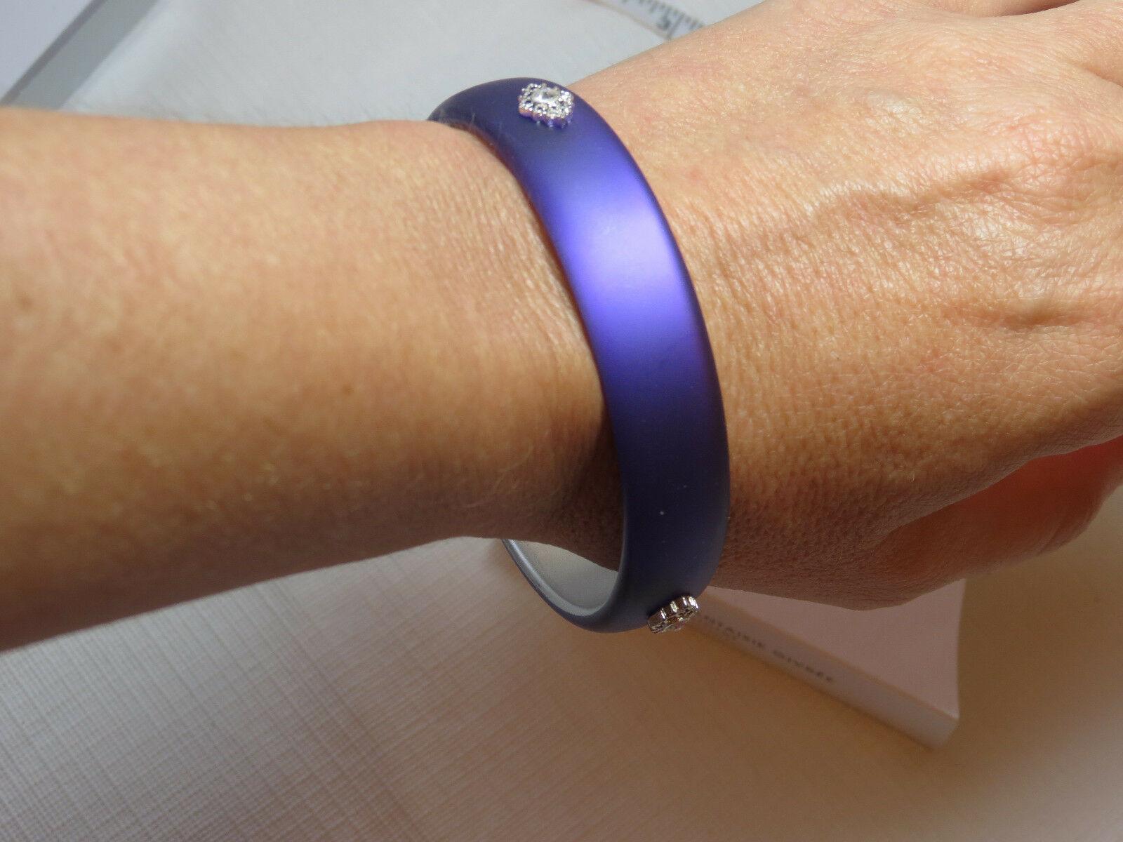 Damen Avon Mattiert Verziert Armreif Armband Violett F3646531 Nip image 2