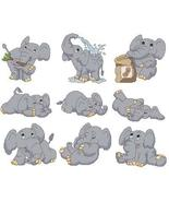 Cute Elephants cross stitch chart Cross Stitch Wonders - $12.60