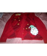 Classic Elements Christmas Santa Claus Sweater Ladies SZ M Snowflakes NEW - $19.99