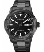 Citizen Analog Black Dial Men's Automatic Analog Display Steel Watch NH8... - $131.36