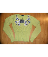 RYU Anthropologie Embellished Cardigan Sweater sz S NWT $76 - $29.69
