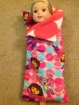 "Wellie Wishers American Girl 14"" doll Clothes Dora Explorer Sleeping Bag... - $9.89"