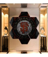 San Francisco Giants Wall Art Painting Canvas Poster Decor Hexagon 7 Pan... - $94.99+