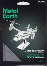 Fascinations Metal Earth V-22 Osprey Laser Cut 3D MMS212 - $14.81