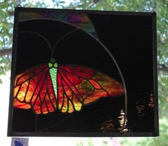 Stained Glass Window Abstract Butterfly - $247.01