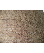 Chocolate Brown Swirl Print Chenille Upholstery Fabric 1 YD R665 - $29.95