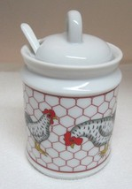 Vintage Takahashi Chicken w Wire Marmalade Jam Honey Pot 3 Pc Mint w Tag - $32.18