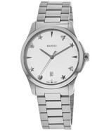 Gucci YA1264028 Silver Dial Stainless Steel Strap Ladies Watch - £428.43 GBP