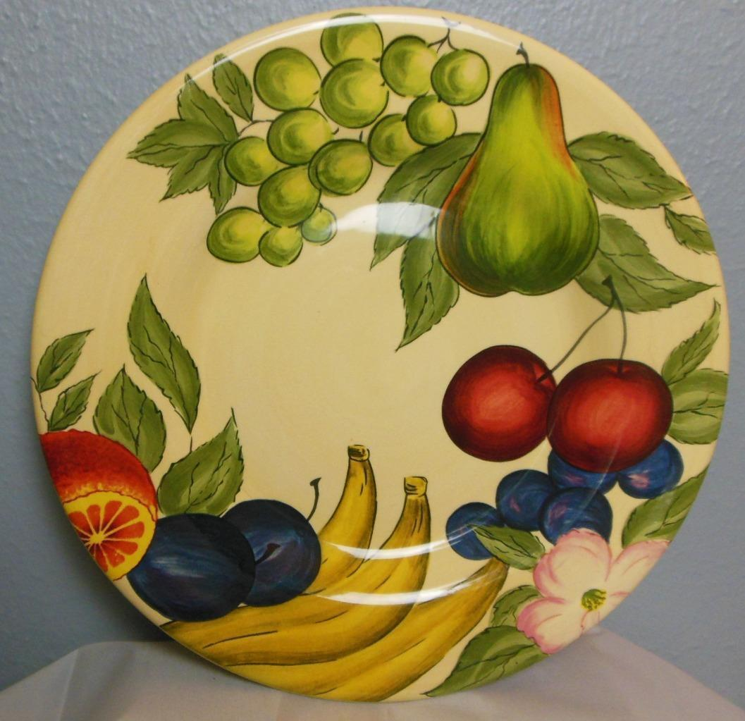 Primary image for Vintage Garden Fruit by Tabletops Unlimited Dinner Plate 11 3/8""
