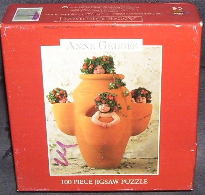 Primary image for ANNE GEDDES * BABIES IN A TERRA COTTA POT * 100 pc Jigsaw Puzzle NIB