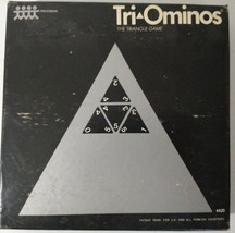 Tri-Ominos The Triangle Game #4420 - 1968 Vintage Game Pressman  - $24.74