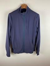 Lululemon Mens Jacket M Medium Blue Full Zip - $98.99
