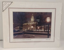 Independence Hall in Winter Philadelphia Landmark1987 Ehrlich Sacco Sign... - $48.28