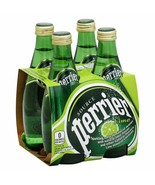Perrier - LIME - Sparkling Water - 1.15 fl oz Pack of 4 Glass Bottles - $19.75