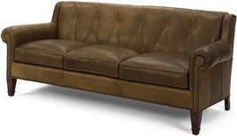 New Leather Sofa  Top Grain Leather  Wood  Hand-Crafted - $7,019.00