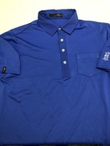 RLX Ralph Lauren Men Golf Polo Shirt Polyester Elastane Blend Blue Large L - $23.13