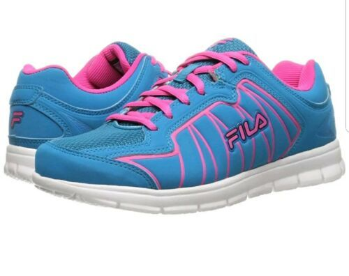 FILA Escalight Running Training Fitness Shoes Sneakers Pink Blue Womens Sz 7 NEW