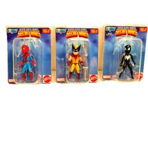 Marvel Micro Bobbleheads Set Spiderman Wolverine Secret Wars Gentle Gian... - $12.40