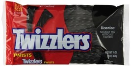 TWIZZLERS Twists, Black Licorice Candy, 16 Ounce Bag (Pack of 12) - $36.62