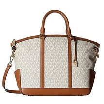Michael Kors Large Beckett Top Zip Satchel Vanilla