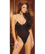 Opaque Stretch Teddy Bodysuit with skinny Spaghettis Straps - $14.99
