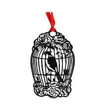 Set of 2 [Cage Bird] Book Reader Accessory Elegant Pierced Bookmarks - £6.95 GBP