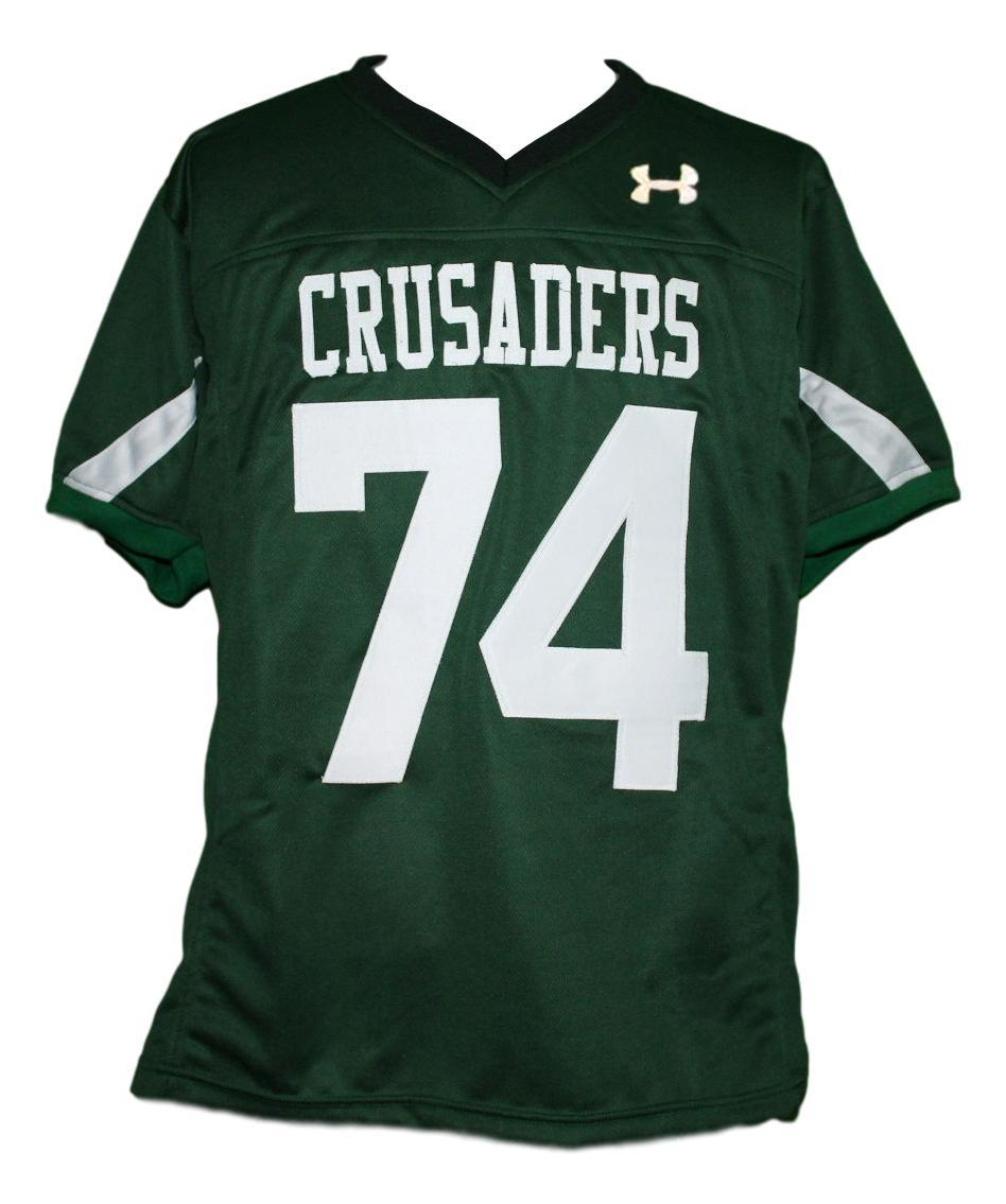 #74 Crusaders The Blind Side Movie Michael Oher Football Jersey Green Any Size