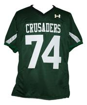 #74 Crusaders The Blind Side Movie Michael Oher Football Jersey Green Any Size image 1