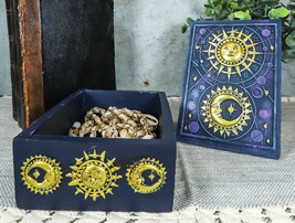 Fortune Telling Celestial Astrology Sun And Moon Tarot Cards Decorative Box - $28.99