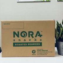 Nora Snacks Organic Roasted Seaweed Sea Salt Non GMO 8/12 Pack Bags 06/2021 - $64.34